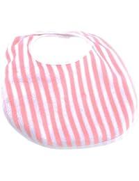 Toddler Bib, Minky Pink Stripe