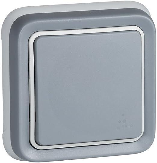 Legrand IP55 resistente al agua Enchufe de pared doble 191505 Plexo color gris enchufe exterior doble enchufe estanco de superficie de la gama Plexo