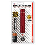 Maglite XL200 LED 3-Cell AAA Flashlight, Red