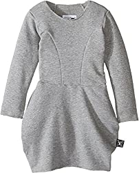 Nununu Baby Girl's French Terry Balloon Dress (Toddler/Little Kids) Heather Grey Dress