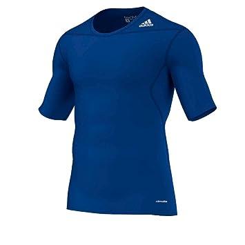 adidas Shirt Techfit Base - Pantalón interior térmico para hombre, color Azul, talla S