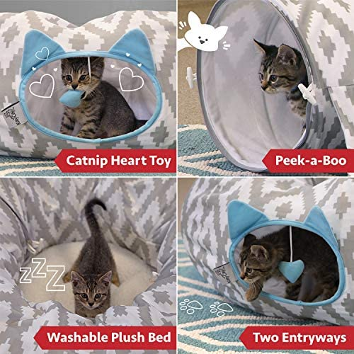 Kitty City Large Cat Tunnel Bed, Cat Bed, Pop Up Bed, Cat Toys, Christmas Tree 3