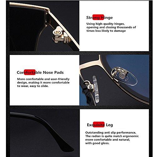 Brillants Yeux de Chat Protection de des Lunettes de nouveauté UV Designer exquise pour Nuances la Conduire Gris Chat des KOMEISHO polarisée Soleil TR90 La HBUTwnq