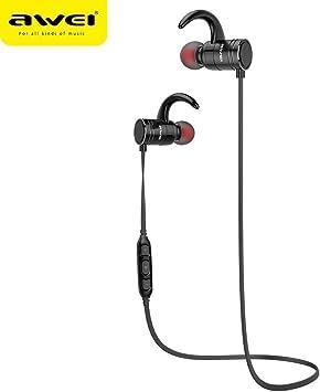 AWEI AK4 Auriculares inalámbricos TWS IP4X Stereo Headset inalámbricos Ecouteur Compatible con Smartphone Teléfono Auriculares con micrófono BT V4.1 Android iOS: Amazon.es: Electrónica