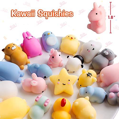 FLY2SKY 45Pcs Mochi Squishy Toys Mini Squishies Kawaii Animal Squishies Party Favors for Kids Cat Panda Unicorn Squishy…