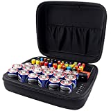 COMECASE Hard Battery Organizer Storage Box Carrying Case Bag - Holds 80 Batteries AA AAA C D - - Come with D-FantiX Digital Battery Tester BT-168D