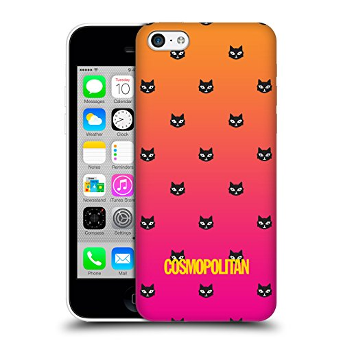 Official Cosmopolitan Orange And Pink Lovey The Cat Hard Back Case for Apple iPhone 5c