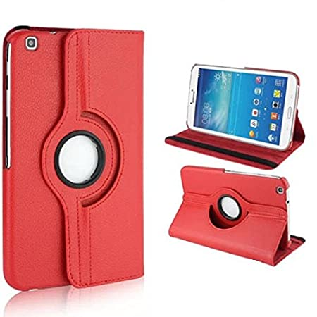 Samsung Galaxy Tab 3 8.0 Cover Case, Beebiz 360 Degree Rotating Pu Leather Flip Folio Case Stand Cover for Samsung Galaxy Tab 3 8.0 Inch (T310) Tablet Protective Skin Shell(Black) DETUOSI PAMN001414CA