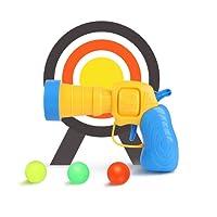 TrifyCore Juguetes para Niños de Tenis de Mesa de Lanzamiento de Plástico Arma Pistolas de Tenis Elástico Juguetes de los niños 1 Set