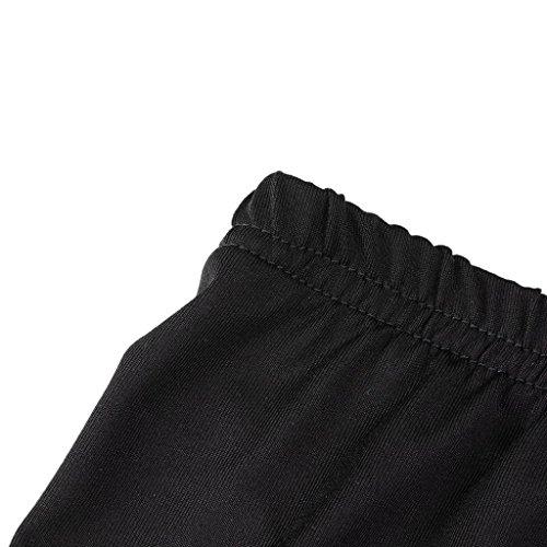 Nero S Pantaloni Leggings Stretch Pantaloni Sport Pantaloni Elastici Color Size Pizzo Caldo ' Donna Shorts Sport Solid Plus VICGREY qwBUE