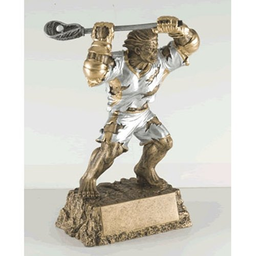 Lacrosse Monster Trophy with 3 lines of custom (Lacrosse Trophy)