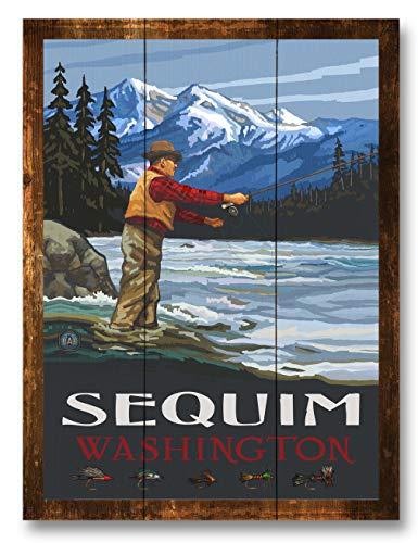 Sequim Washington Rustic Wood Art Print by Paul A. Lanquist (9