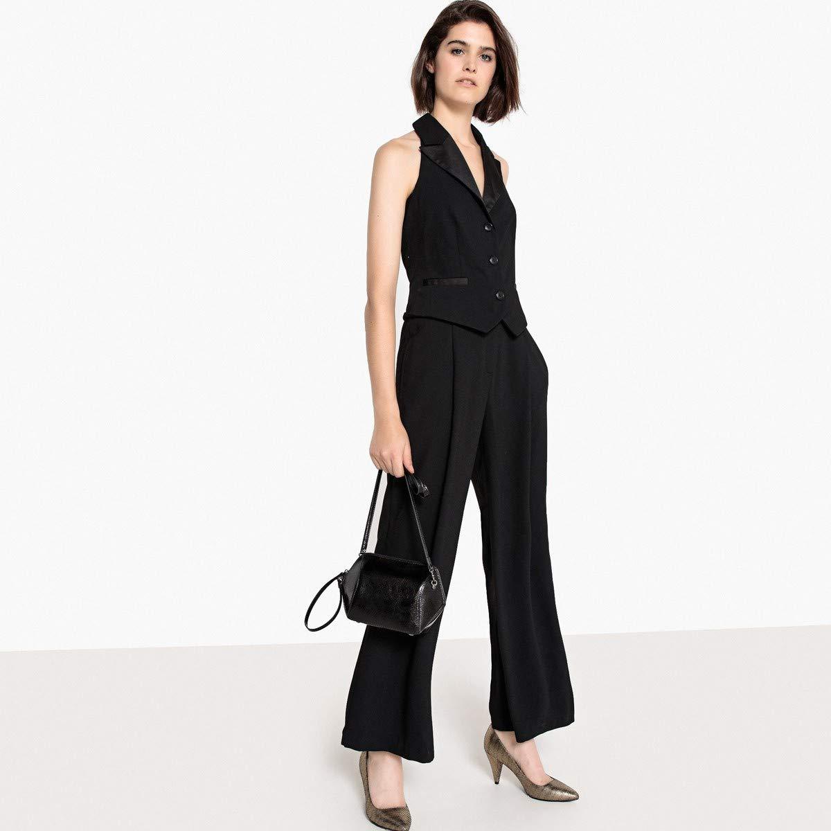 17d5a248026f Amazon.com  La Redoute Collections Womens Wide Leg Halterneck Blazer  Jumpsuit Black Size US 14 - FR 44  Clothing