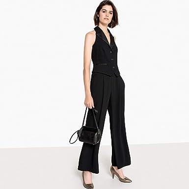ea0f11002ef3 La Redoute Collections Womens Wide Leg Halterneck Blazer Jumpsuit Black  Size US 14 - FR 44