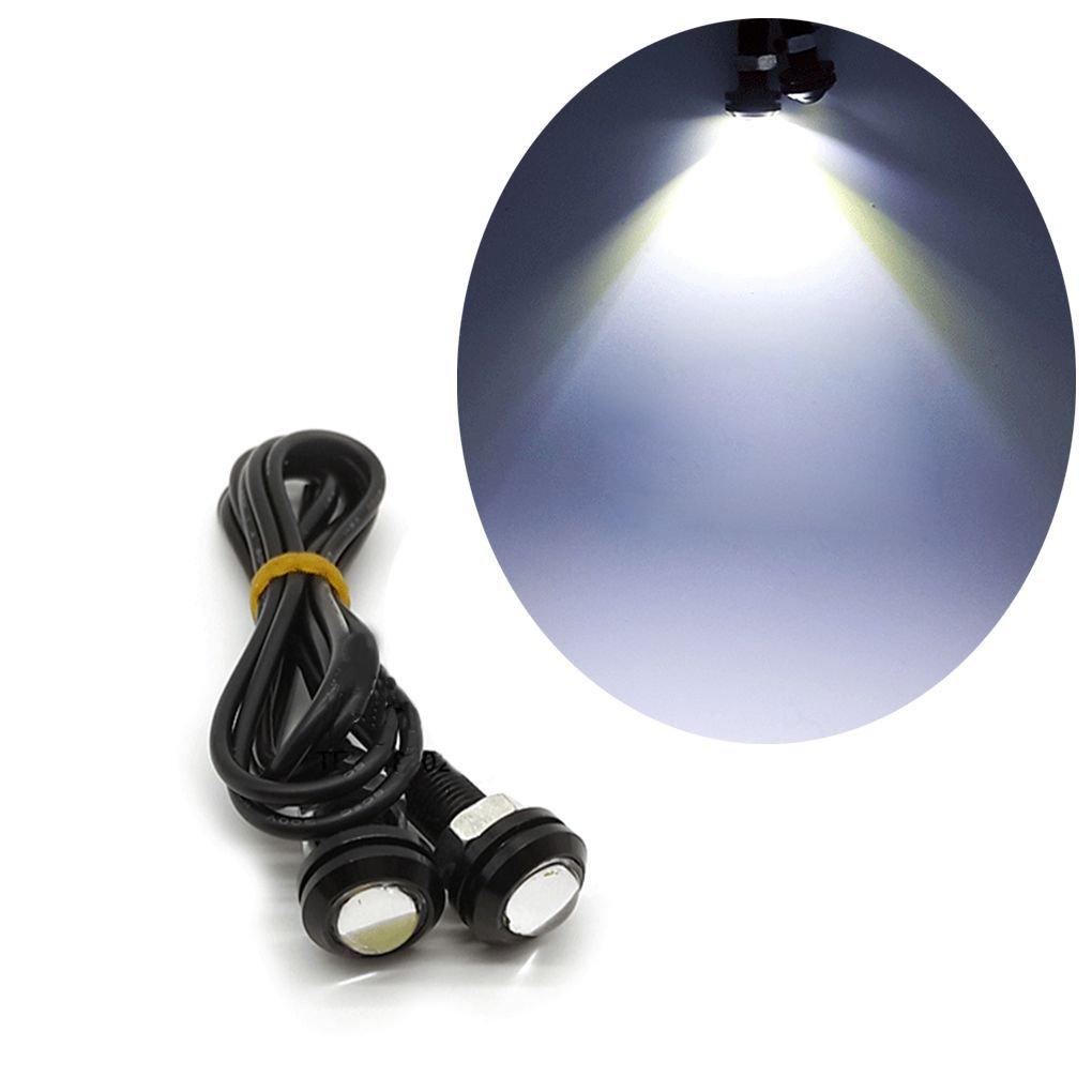 2PCS Ultrathin 18mm 9W Aigle LED Eye pare-chocs d'é clairage diurne DRL Republe