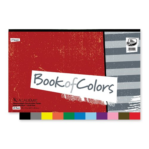 (Mead Académie Book of Colors, Heavyweight Paper, 48 Sheets, 18 x 12 Inch Sheet Size (53052))