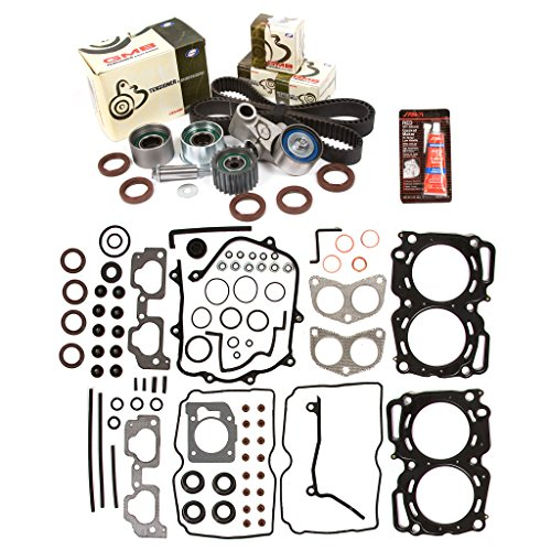 Evergreen HSTBK9009MLS MLS Head Gasket Set Timing Belt Kit Fits 99-03 Subaru 2.5 SOHC EJ251 EJ252 (Timing Cover Gasket Cylinders)