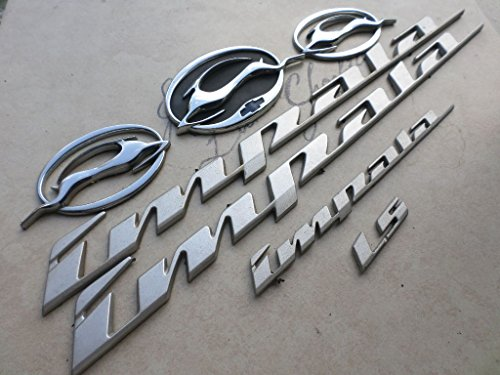 (00-04 Chevy Impala Ls Light Grey Side Door 10289787 Emblem Right Leaping Deer 10424490 Left 10424491 Rear Logo 10437467 Badge Nameplate Decal Set of 7 Scripts)
