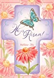 """ He is Risen – Matthew 28:6 "" – Double Sided STANDARD Size Decorative Flag 28 X 40 Inches Review"