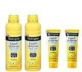 Neutrogena Beach Defense Spray Broad Spectrum SPF 70 Sunscreen, 6.5 Ounce (2 Pack) +Beach Defense Sunscreen Lotion SPF 70 Travel Size- 1oz, 29ml (2 Pack)