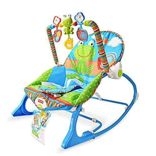 BEYHOOH Baby Rocking Chair, Foldable Baby Rocking Chair Swing seat Multifunctional Vibrating Baby Soothing Recliner Baby Toy