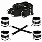IMO Fetish Under Bed Restraint Kit with Adjustable Straps - Hand Cuffs Ankle Cuffs Bondage for Male, Female or Couples