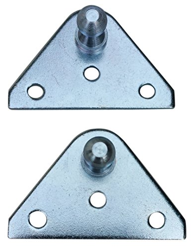 Small Flat Lift Support Bracket - Zinc Plated 14 Gauge Steel - 10mm Ball Stud - Gas Shock Mounting - Lid Strut Prop Spring Mount