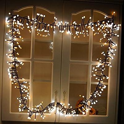 YUEGANG LED Double Color Firecracker Intdoor Lights 400 Bulbs (9.8ft) Waterproof Decorative Lights For Outdoor Indoor Garden Patio Bedroom Wedding Decorations