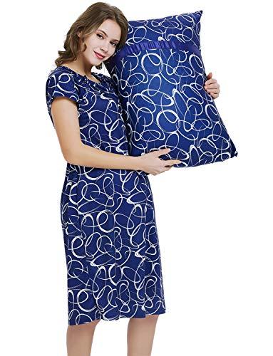GINKANA Labor and Delivery Maternity Hospital Gown and Pillowcase Set for Maternity Hospital -
