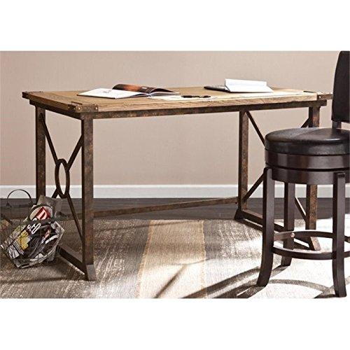 Pemberly Row Knightley Tilt Top Drafting Table in Oak