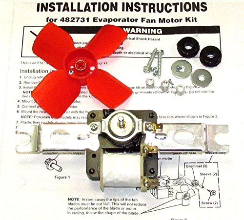 Refrigerator Evaporator Fan Motor that works with KitchenAid KTRS20KAAL10 by Refrigerator Parts