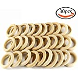 """Goodlucky365 30pcs 2.2"""" Natural Wood Rings Circle Unfinished Wood for DIY Projects Pendant Connectors Jewelry Making"""