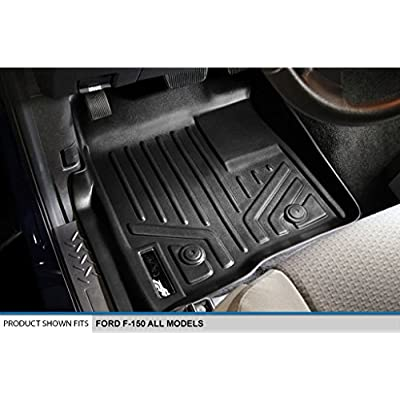 MAXLINER Floor Mats 2 Row Liner Set Black for 2011-2014 Ford F-150 SuperCrew Cab: Automotive