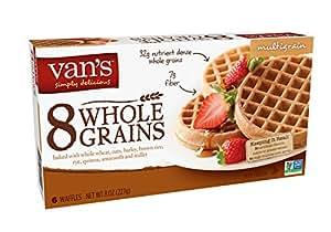 Van's, 8 Whole Grains Waffles, Multi-Grain, 6 Count, (Frozen)