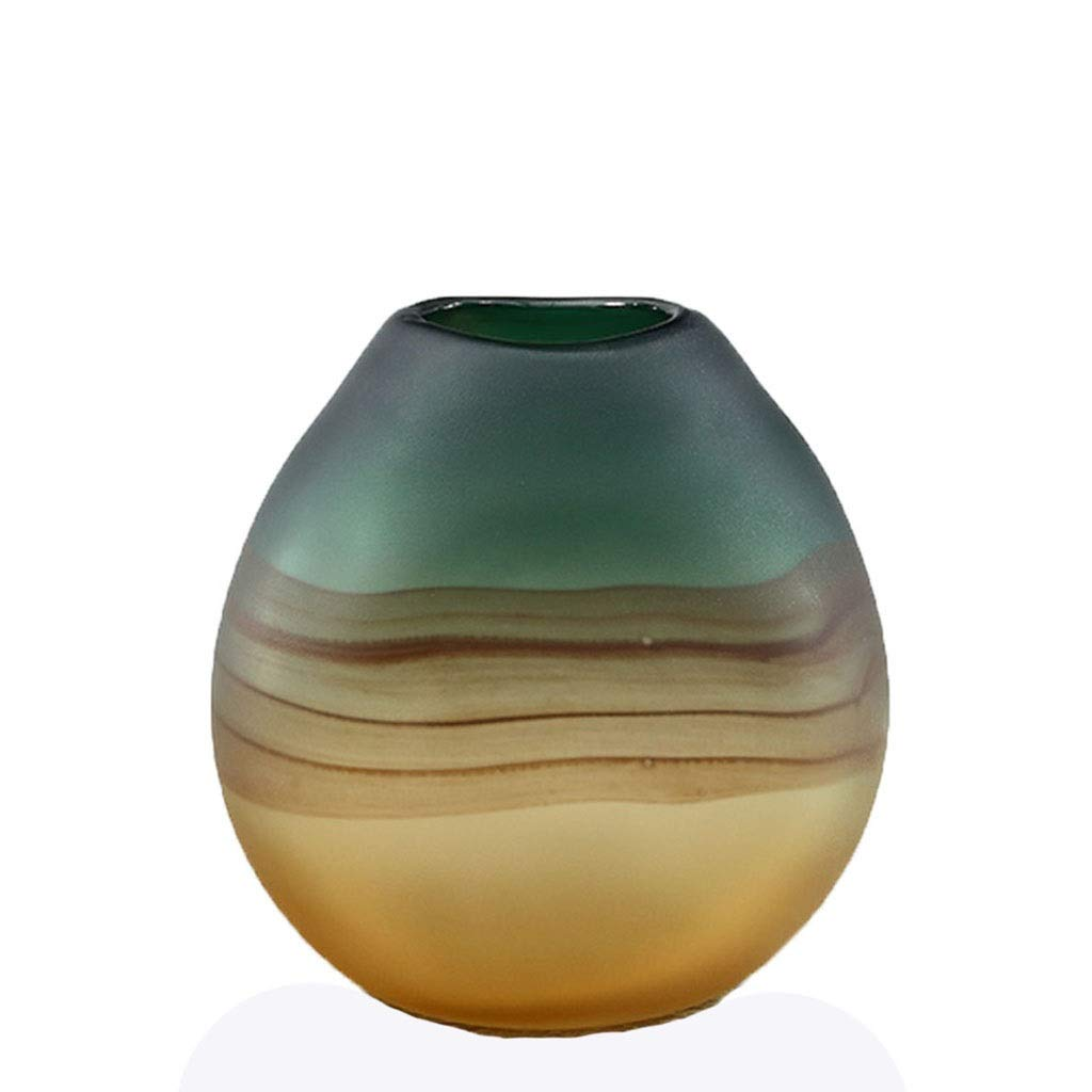 フラワーベース花器 花瓶ガラス花瓶ドライフラワーフラワーアレンジャー大型室内装飾工芸品 (Color : Green, Size : 21.5*21cm) B07T72QY4Z Green 21.5*21cm
