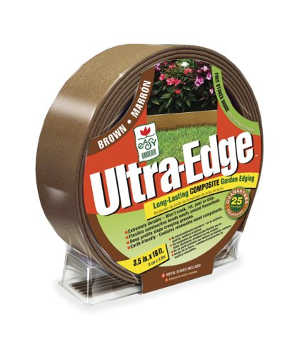 Ultra Edge Composite Landscape Edging (25 Year Edging) Brown, 3.5 Inches x 16 Feet