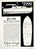 1935 Ad Select Chris-Craft Conqueror 31' Yacht Cruiser Interior Boat Plan YYM3 - Original Print Ad