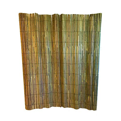 (MGP Bamboo Slat Fence 5'H x 15'L)