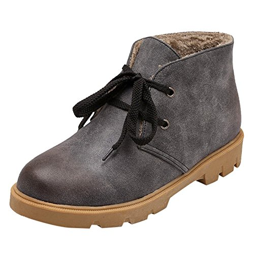 Mee Shoes Damen süß warm gefüttert ankle Boots Grau