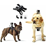 PULUZ Hound Dog Harness Adjustable Chest Strap Mount Belt for GoPro HERO 6/5/5 Session/4 Session/4/3+/3/2/1, Xiaoyi and Other Action Cameras (Dog Harness)