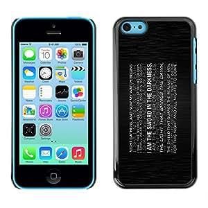 EJOY---Cubierta de la caja de protección la piel dura para el / iPhone 5C / --I Am The Sword