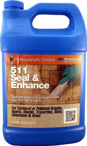 Miracle Sealants 511 Seal and Enhance Penetrating Sealer 1 Gallon (Marble Sealer Polished)