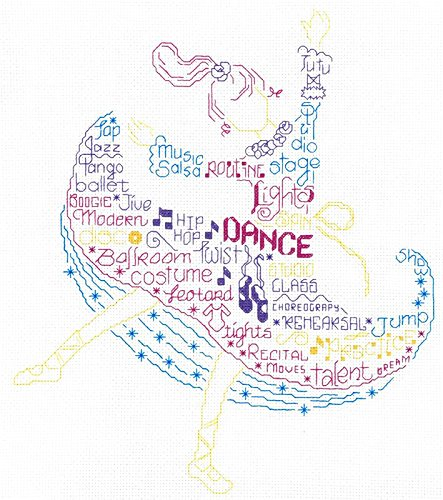 Let's Dance Cross Stitch Chart and Free Embellishment