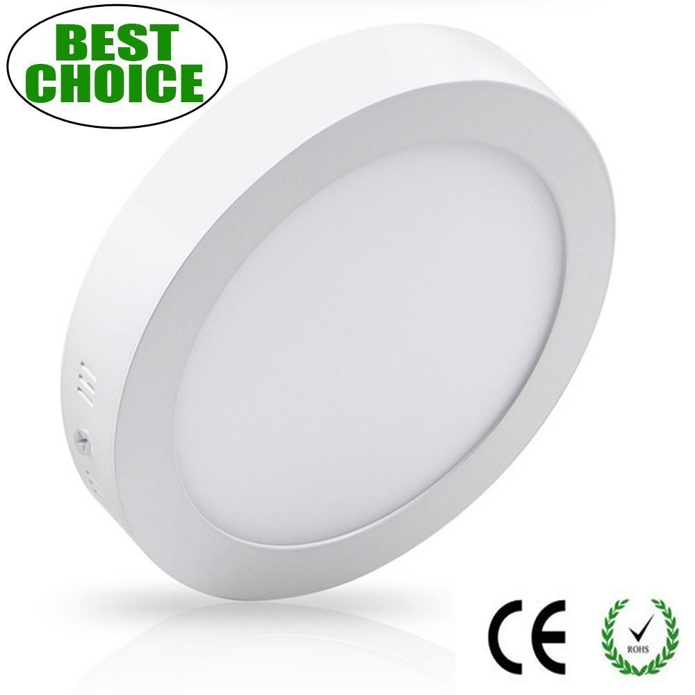 LED Flat Round Ceiling Down Light for Hallway-6W Flush Surface Mounted Downlights Fitting for Bathroom, Kitchen, Basement, Cabinet, Kids Room, Stairs, Utility Room, Bookcase Lighting, Soft Daylight w-lite