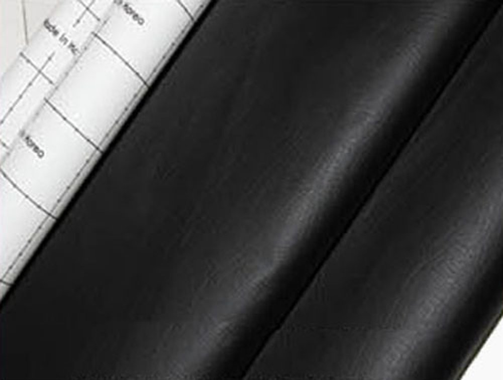 Amazon.com: Black Adhesive Faux Leather Upholstery Vinyl Fabric Auto Car  Seat Covers Interior Sofa 1yd