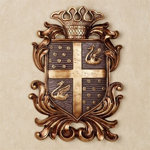Touch of Class Monarchy Coat of Arms Wall Plaque Plum