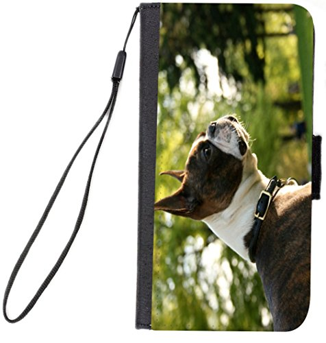 UKBK Boston Terrier Dog Design Galaxy S7 PU Leather Wallet Flip Case with Kickstand and Magnetic Flap (NOT for Galaxy S7 Edge) (Keychain Watch Terrier)