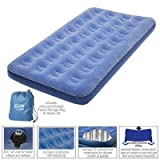 Pure Comfort Low-Profile Inflatable Air Mattress with External Air Pump, Twin Sized Bed