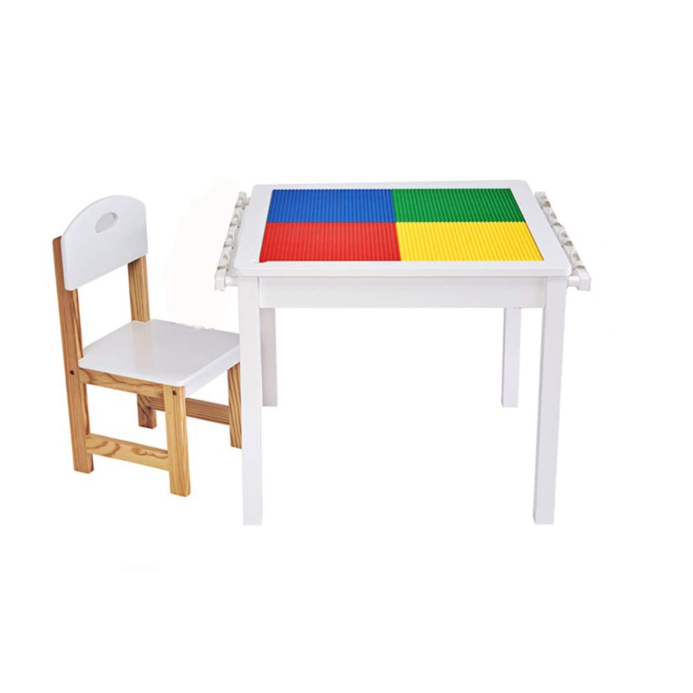 家庭用子供の活動テーブル、赤ちゃんのおもちゃ学習用ゲームテーブル、1テーブル兼用、椅子付 B07QVJ2VQX no box 1 table+1 chair