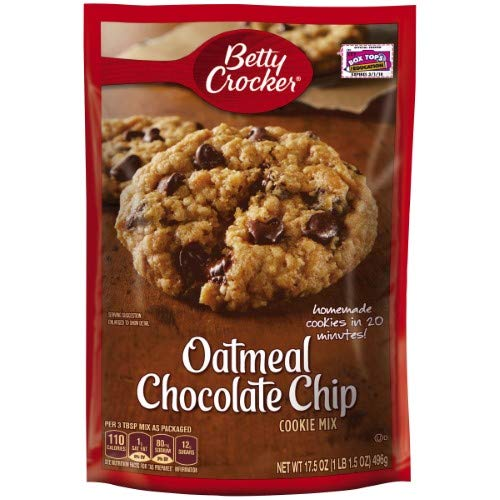Betty Crocker Oatmeal Chocolate Chip Cookie Mix (Pack of 4)